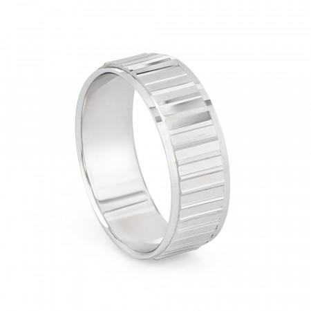 Men's Platinum Wedding Band Ring – 33862-1