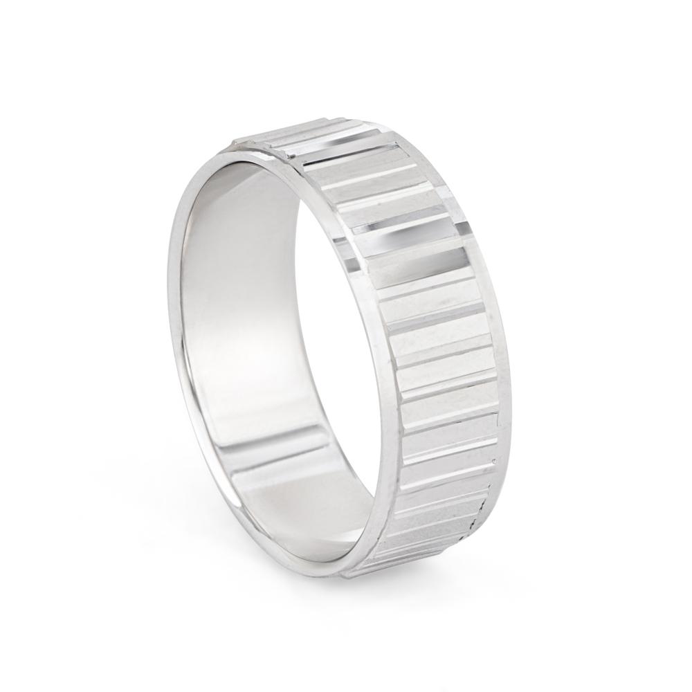 Men's Platinum Wedding Band Ring - 33862-1
