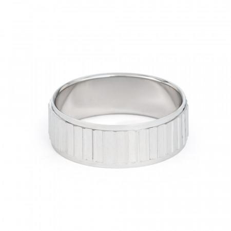 Men's Platinum Wedding Band Ring - 33862-2