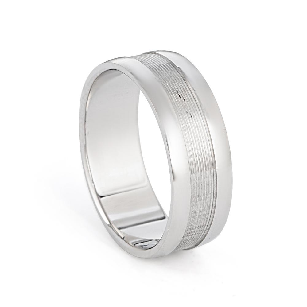 Men's Platinum Wedding Band Ring - 33865-1