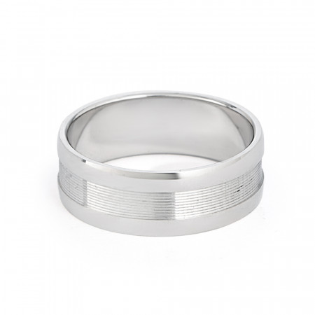 Men's Platinum Wedding Band Ring - 33865-2
