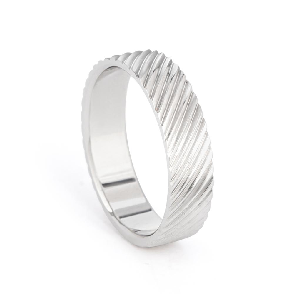 Men's Platinum Wedding Band Ring UK - 33868-1