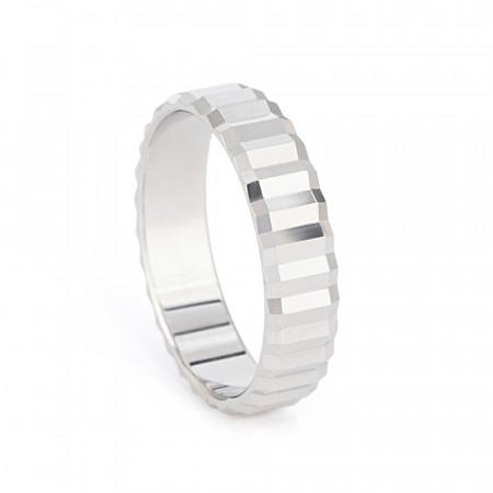 Platinum  Fancy Wedding Band – 33870-1