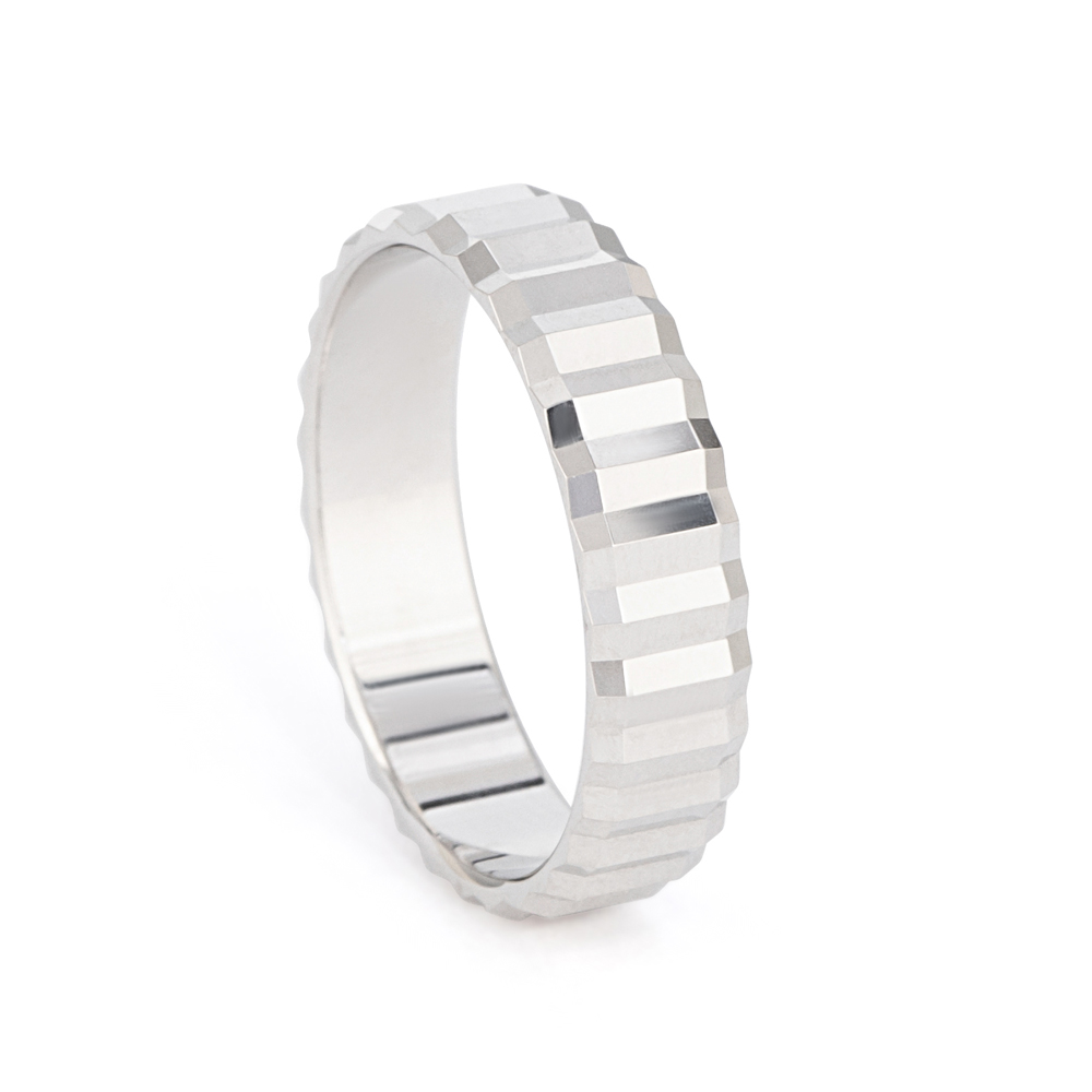 Platinum Fancy Wedding Band - 33870-1