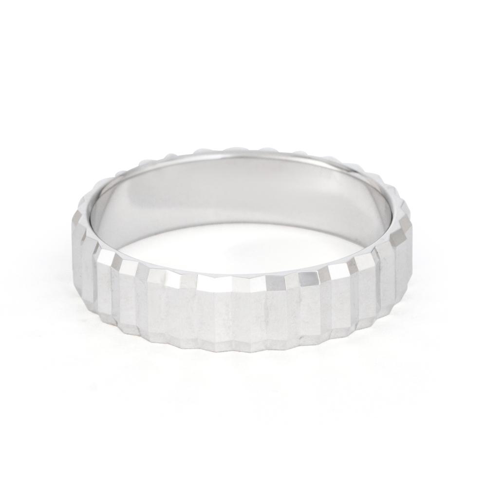 Platinum Fancy Wedding Band - 33870-2