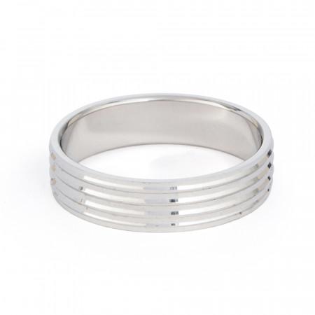 Platinum Wedding Band for Men- 33871-2