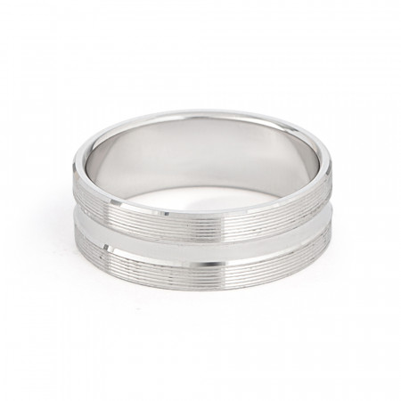 Platinum Wedding Band -33872-2