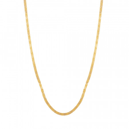 22ct Gold Foxtail Chain in 22 Inches – 33894