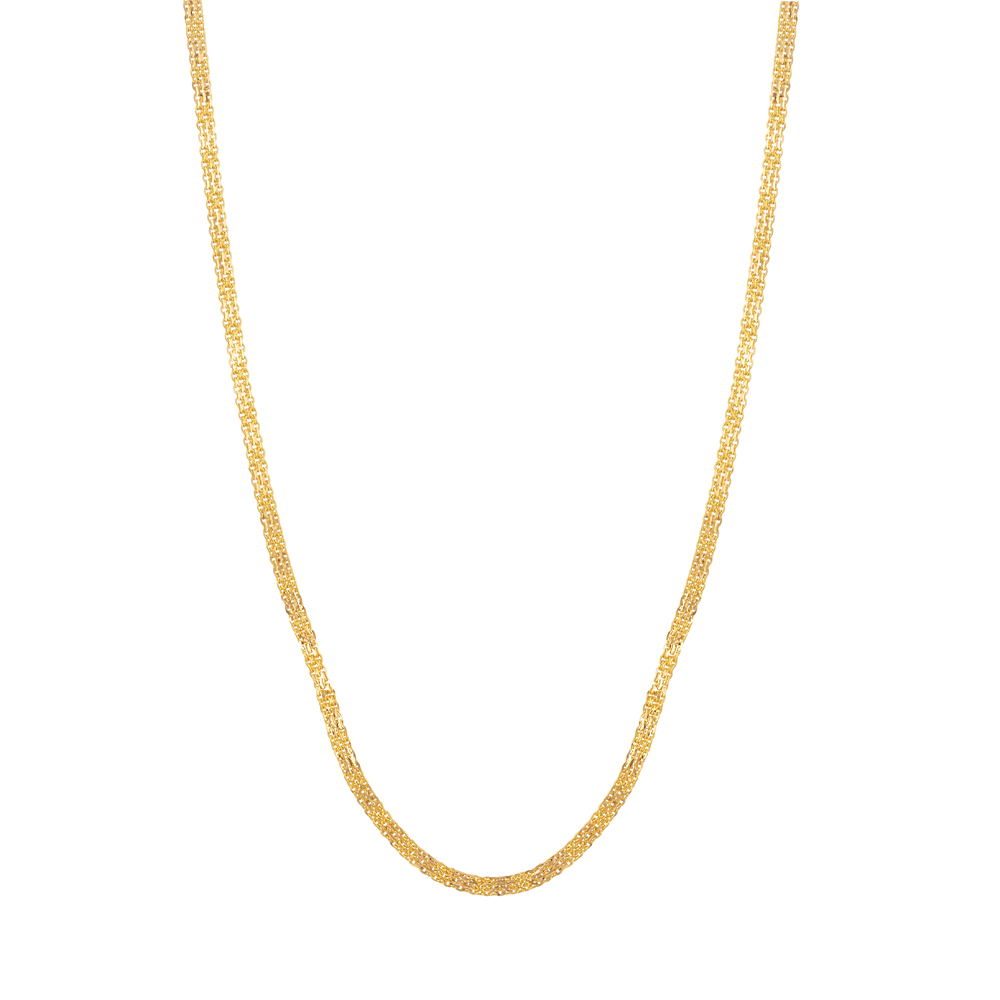 22ct Gold Foxtail Chain in 22 Inches - 33894