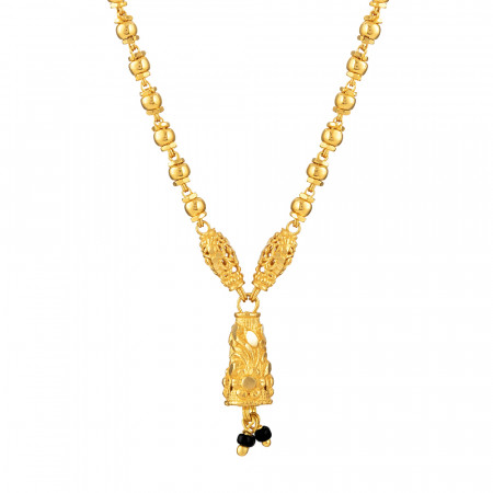 22ct Gold Mangalsutra in 17 Inches - 33965-2
