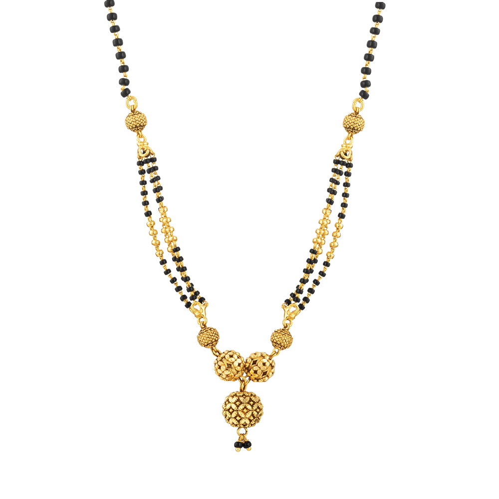 22ct Gold Mangalsutra in 19 Inches - 33967