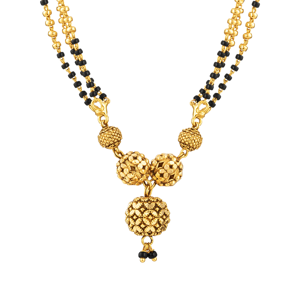 22ct Gold Mangalsutra in 19 Inches - 33967-2