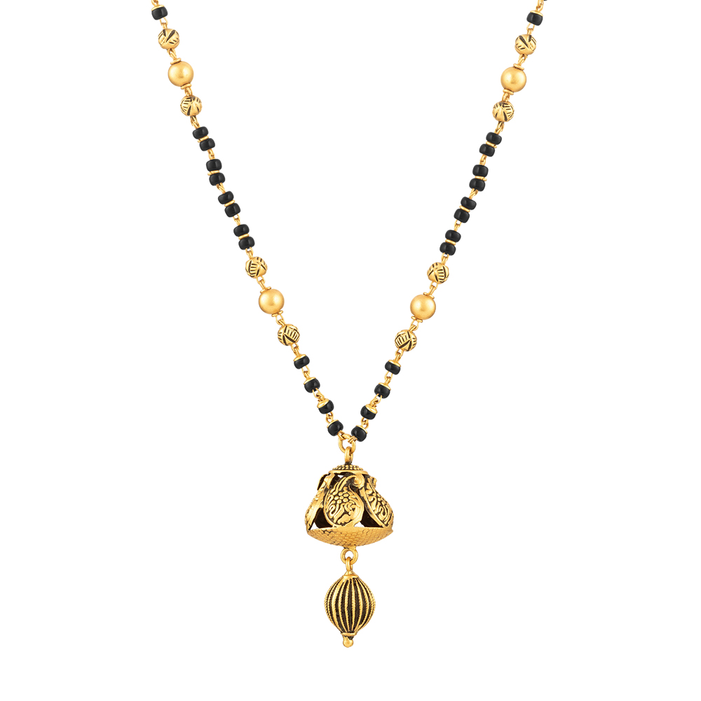 22ct Gold Mangalsutra with Antique finish