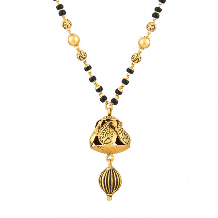 22ct Gold Mangalsutra with Antique finish 33968