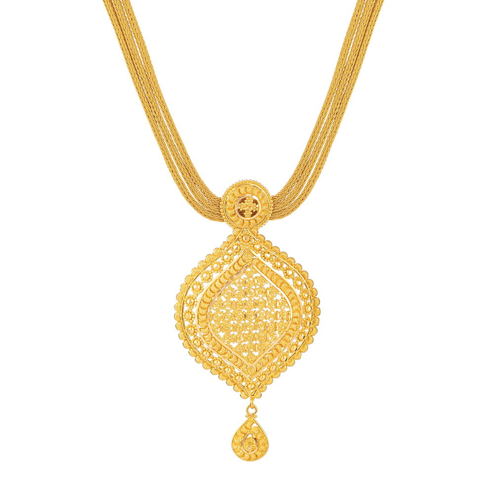 22ct Gold Filigree Necklace - 33986