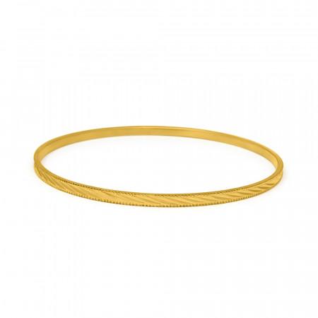 22ct Gold Single Bangle 34123_4