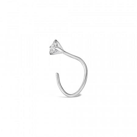 18ct White Gold Diamond Nose Pin 34155-2