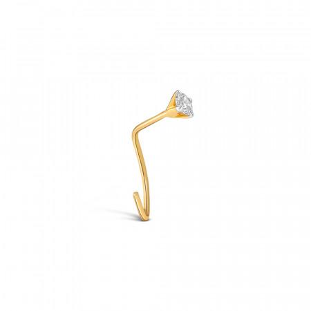 Yellow gold Diamond Nose Stud 34156-3