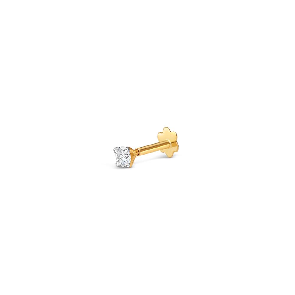 Yellow Gold Diamond Nose Stud uk 34160-1