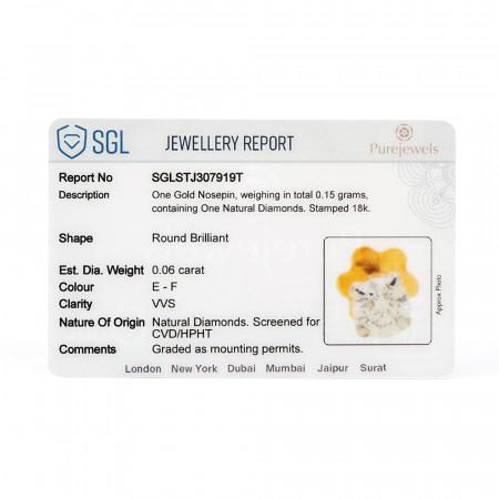 SGL Diamond Certificate