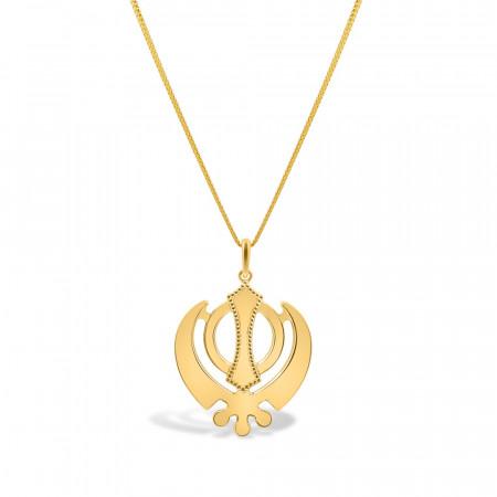 22ct Gold Khanda Pendant 33906