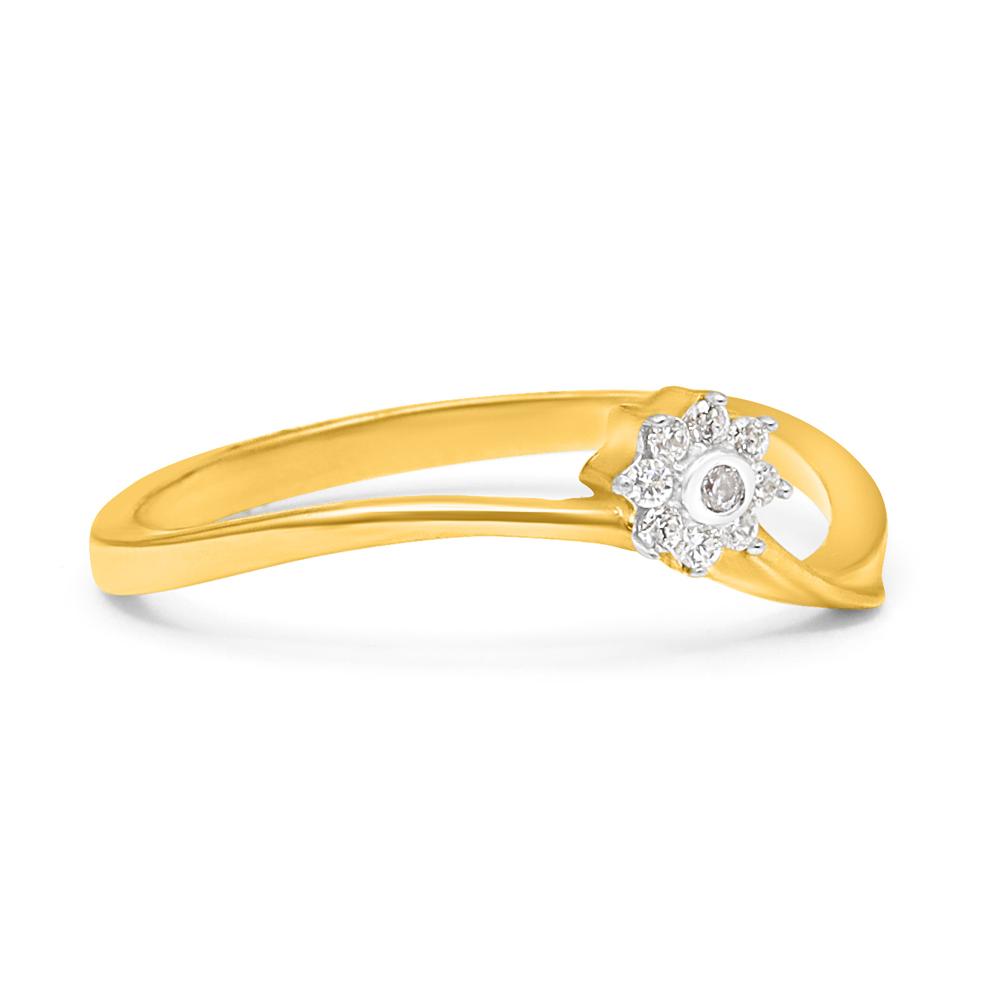 22ct Gold Flower Ring - 34059_1