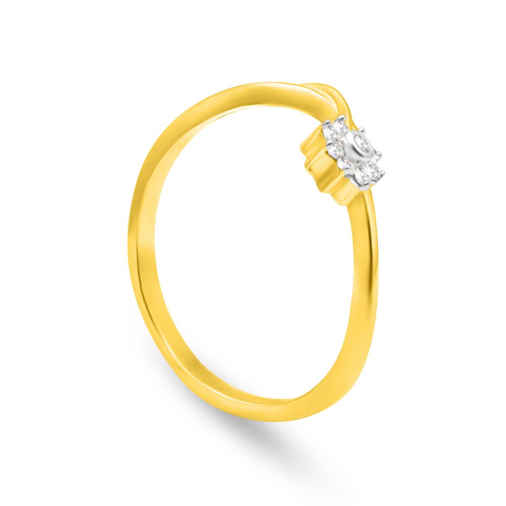 22ct Gold Flower Ring - 34059_2