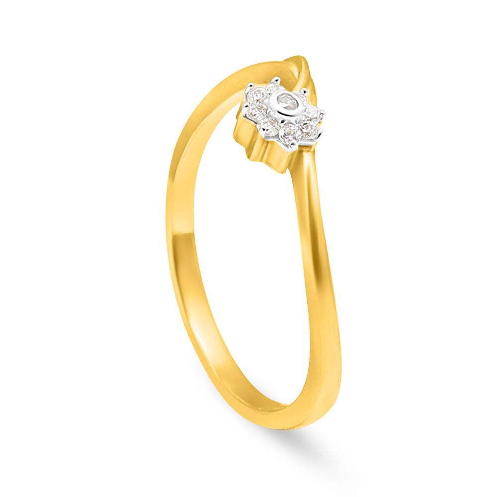 22ct Gold Flower Ring - 34059_3