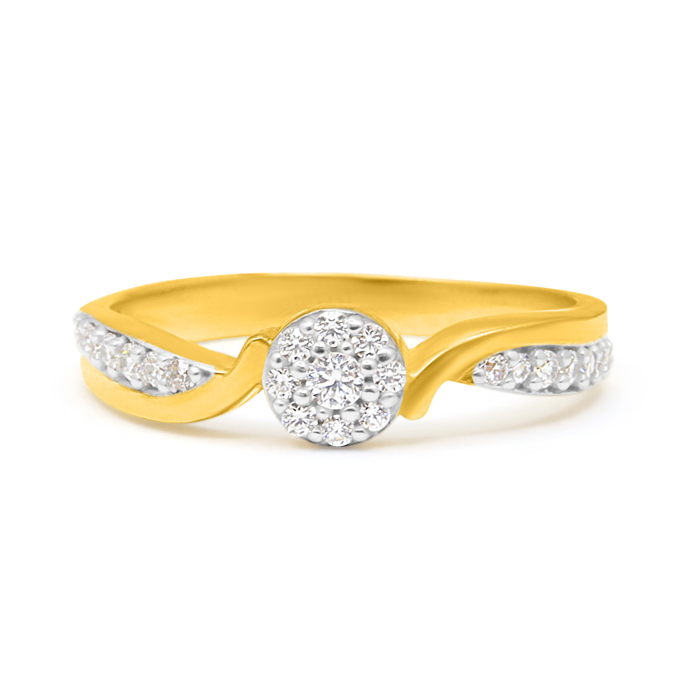 22ct Gold CZ Stone Ring 34072_5
