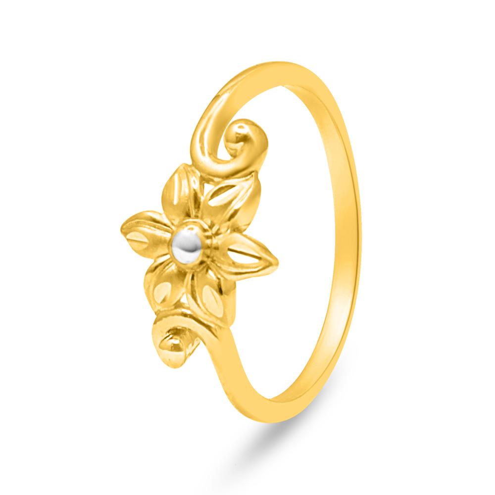 22ct Gold Flower Ring 34087_3