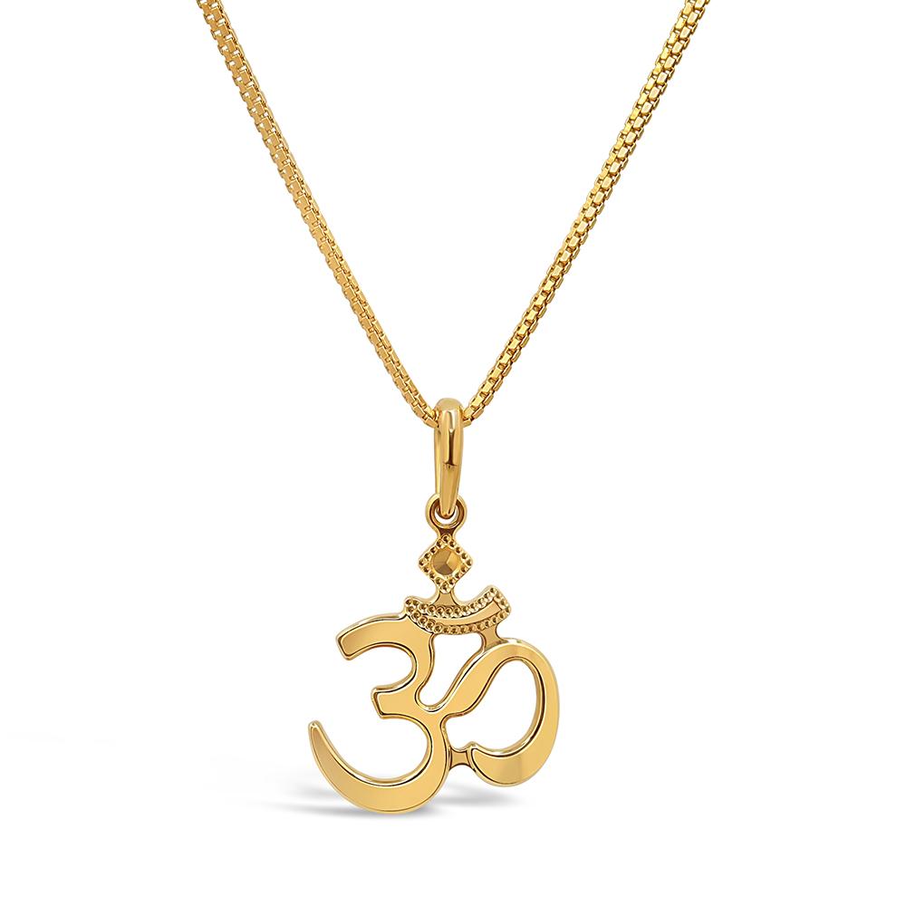 22ct Gold Om Pendant 34136