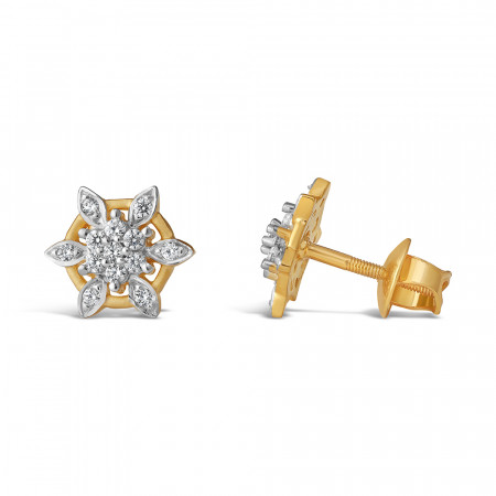 22ct Gold Stud Earrings 34107-2