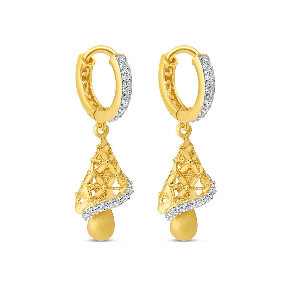 22ct Gold Hoop Earring 34115-1