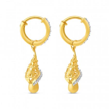 22ct Gold Hoop Earring 34115-2