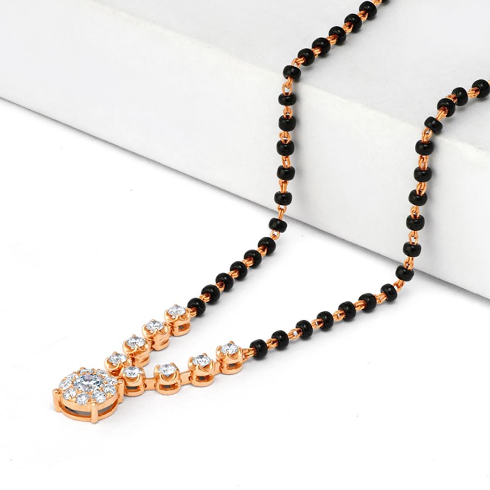 18ct Rose Gold Diamond Mangalsutra - 34183