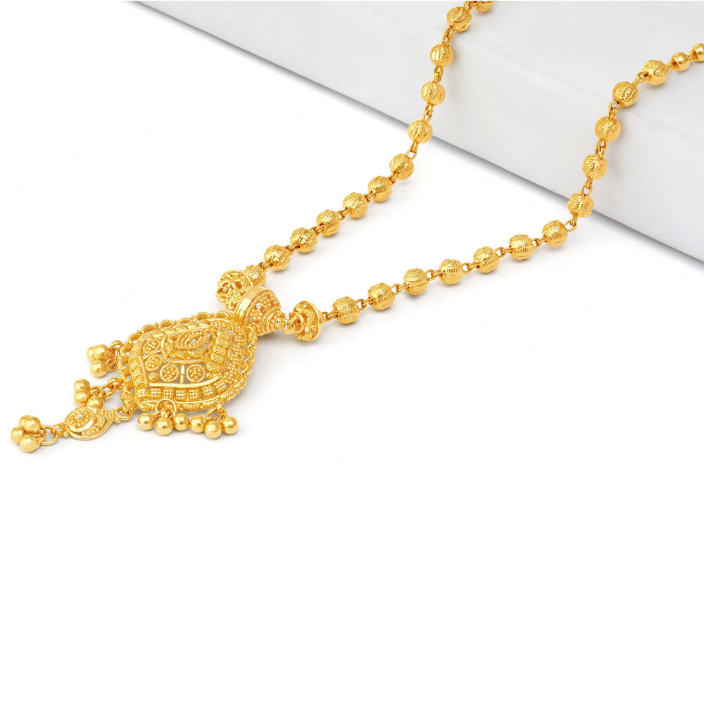 22 carat Gold Indian Necklace 34222-1