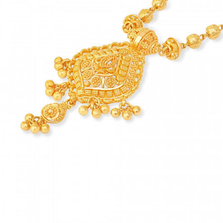 22 carat Gold Indian Necklace 34222-2
