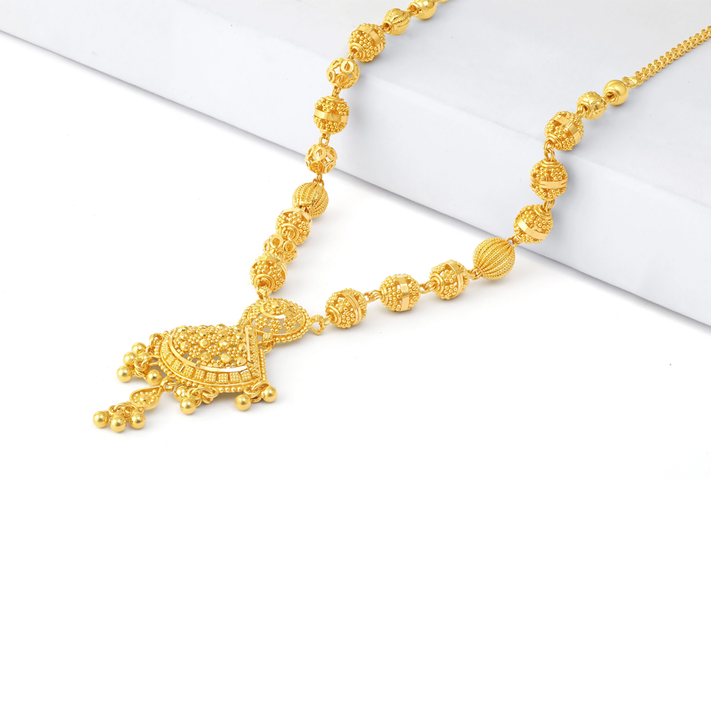 Jali Collection 22ct Gold Necklace 34224