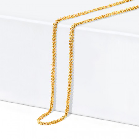 22ct Gold Box Chain 34342-1