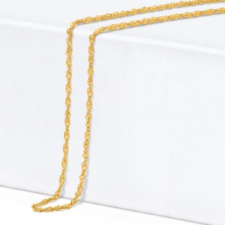 22ct Gold Ripple Chain 34349-1