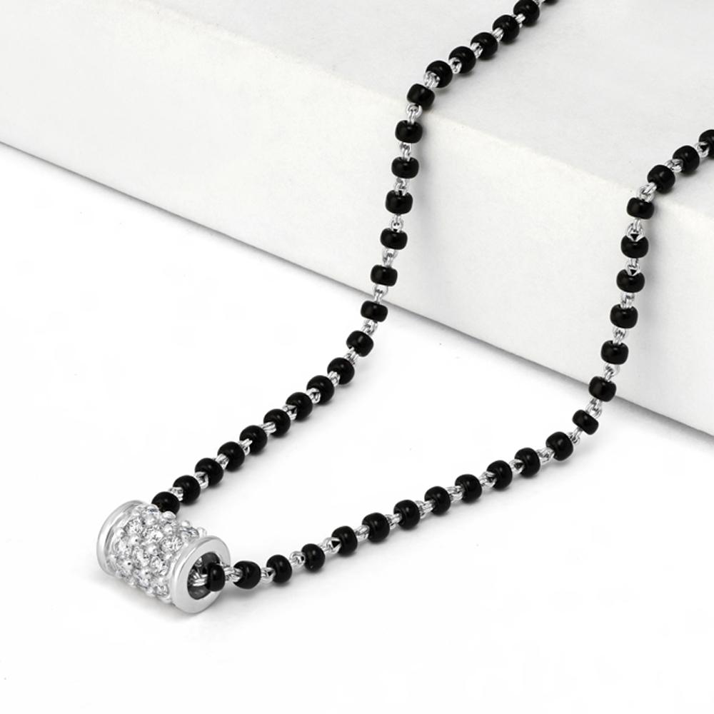 18ct White Gold Mangalsutra Diamond 34575
