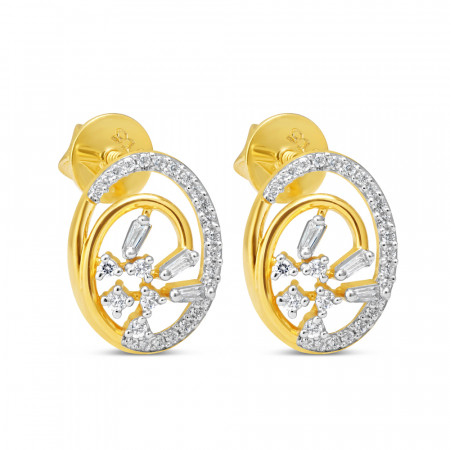 22ct Gold Earring 34593-1