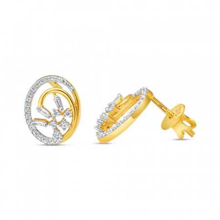 22ct Gold Earring 34593-2