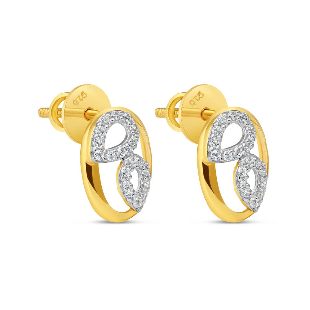 22kt Gold Stud Earring 34595-1