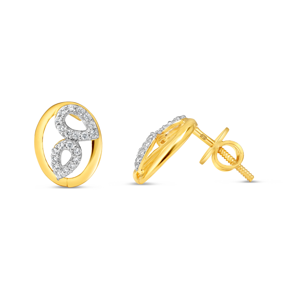 22ct Gold Earring 34595-2