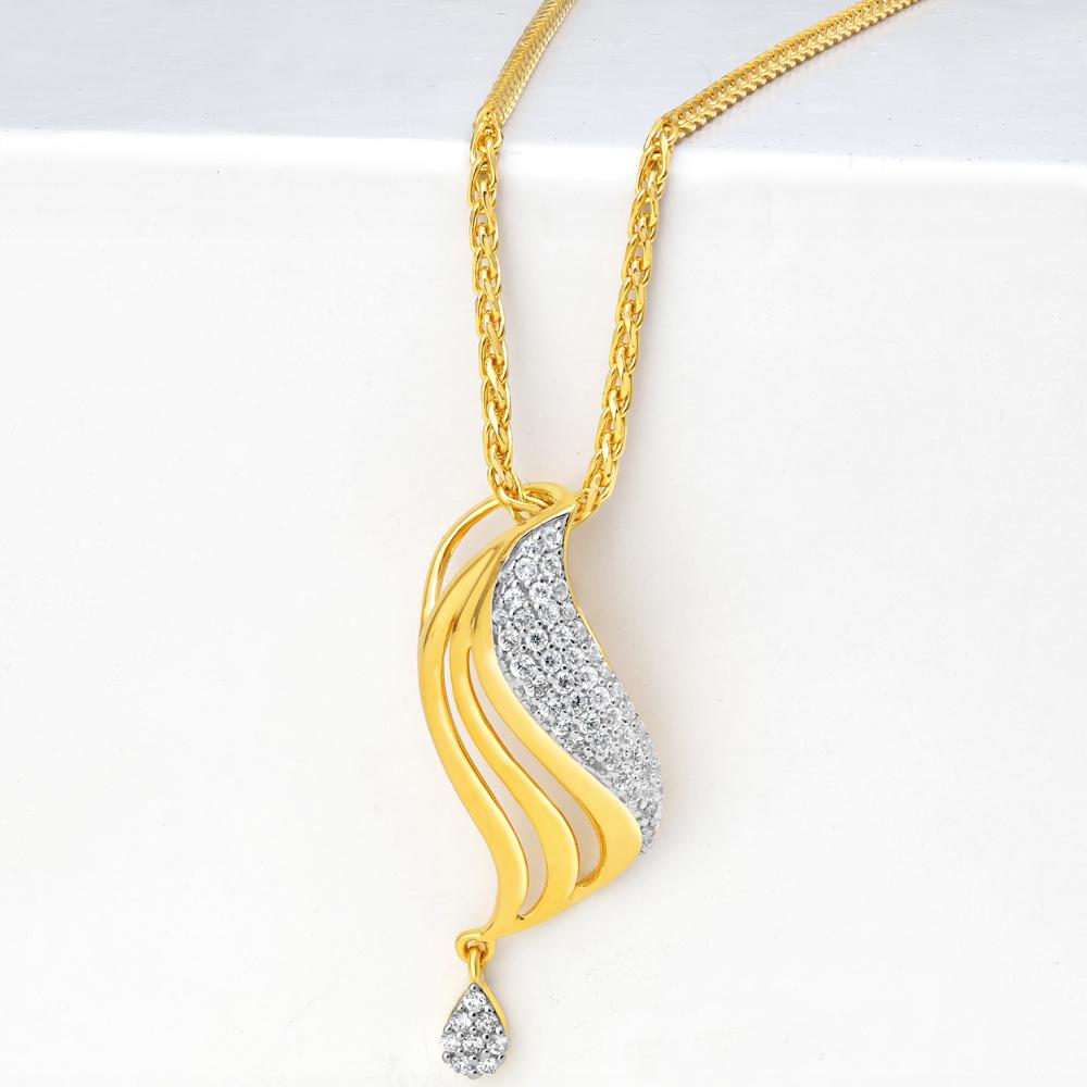 22ct Gold Pendant for Women 34598