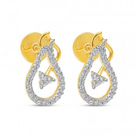 Gold Stud Earring 34603-1