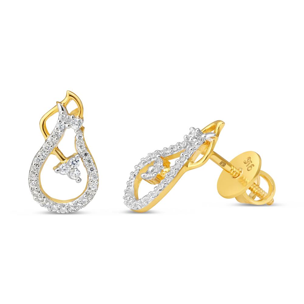 22kt Gold Earring 34603-2