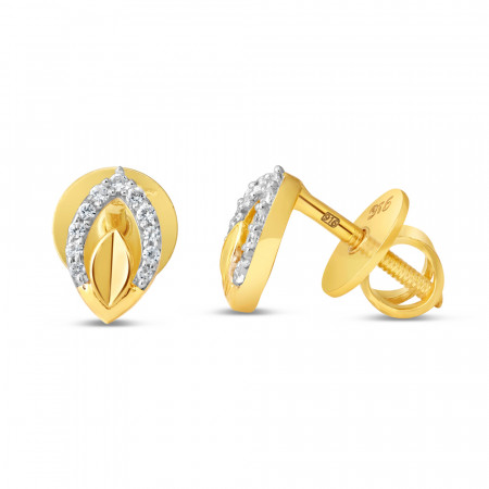22ct Gold Earring 34609-2
