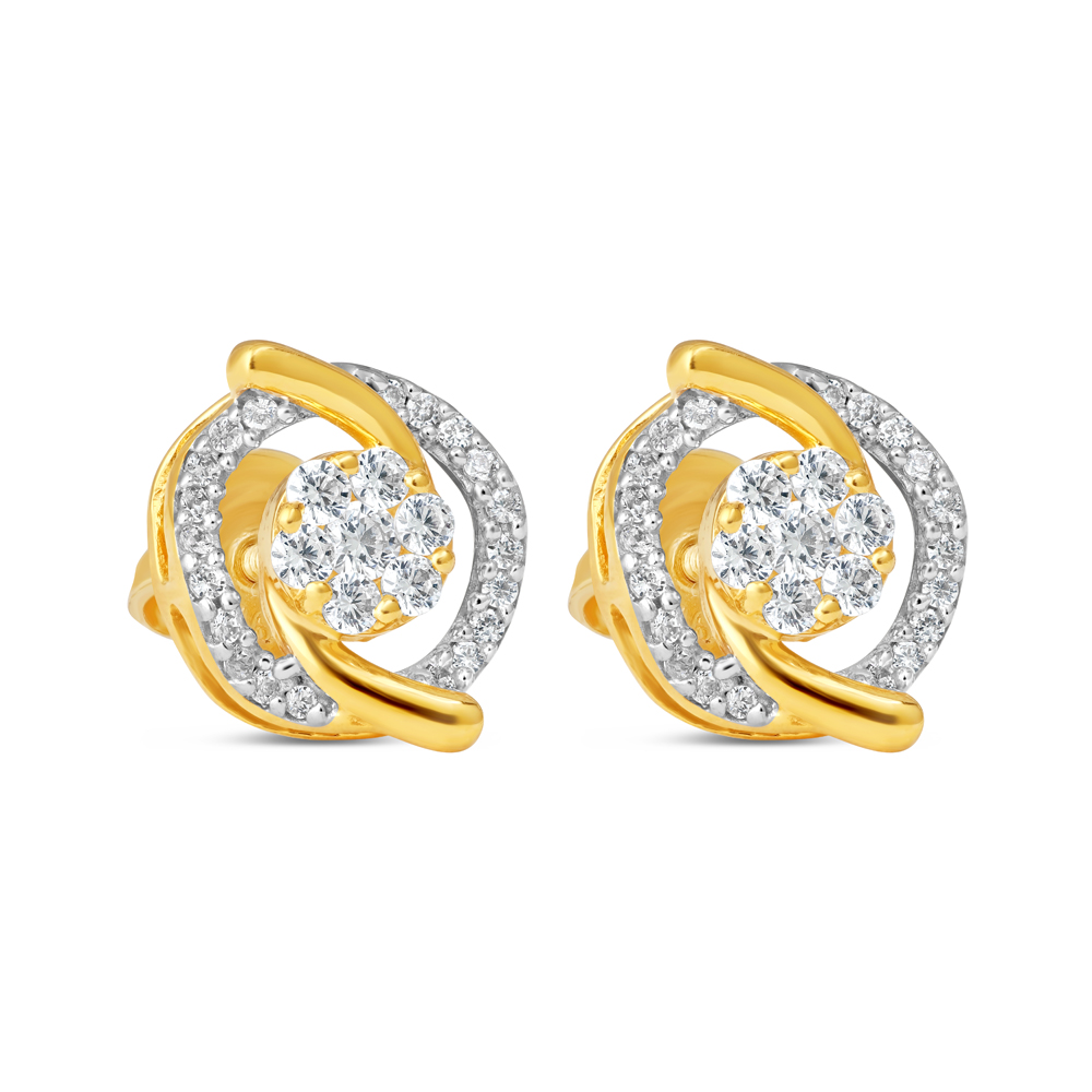 22ct Gold Earring 34610-1